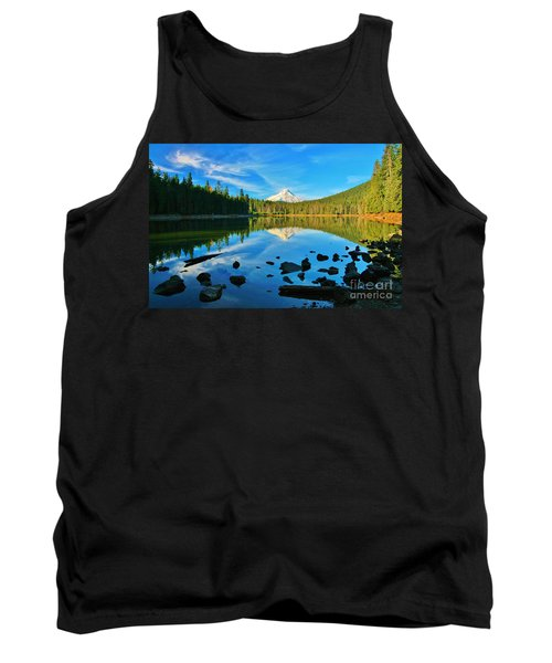 October On The Lake Tank Top by Sheila Ping