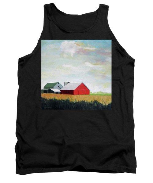 Ohio Farmland- Red Barn Tank Top