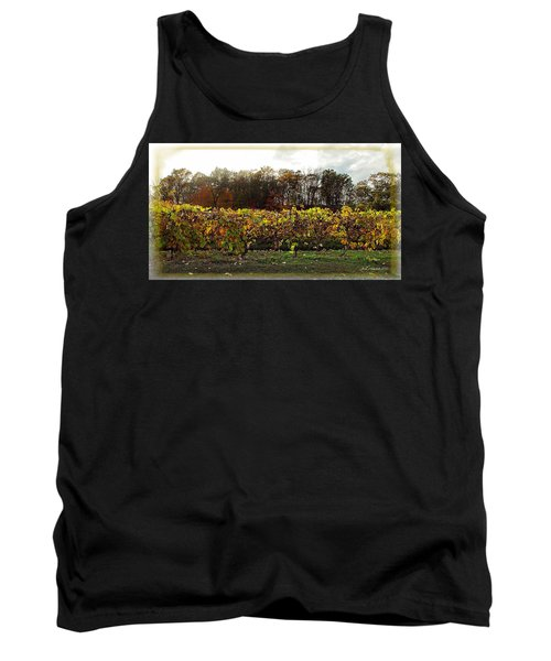 Tank Top featuring the photograph Ohio Winery In Autumn by Joan  Minchak