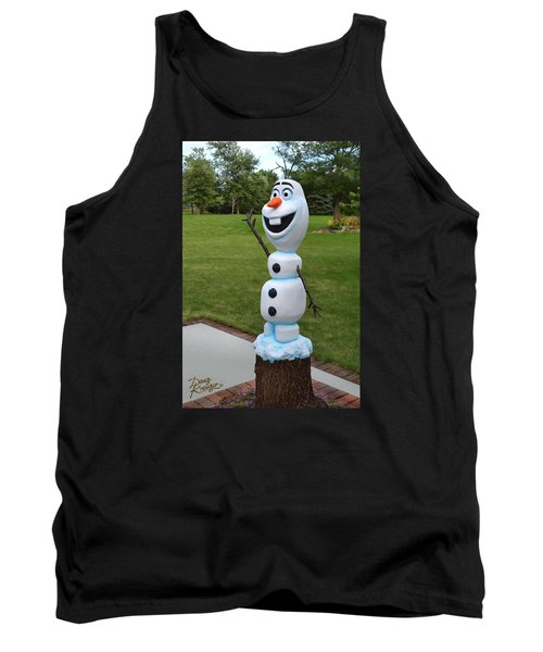 Olaf Wood Carving Tank Top by Doug Kreuger