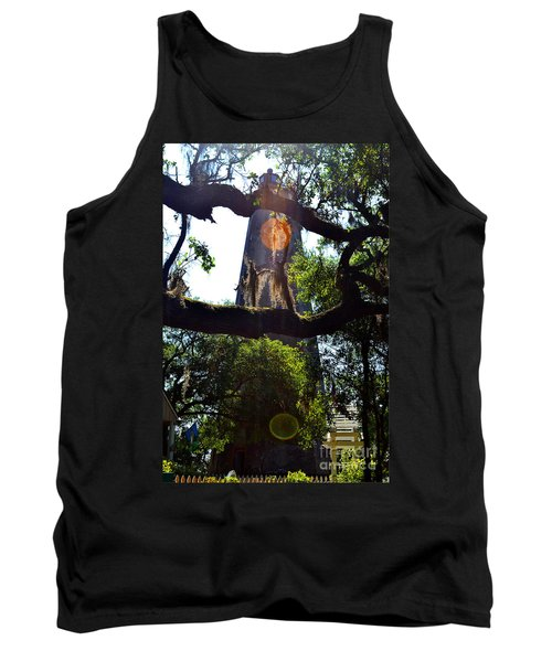 Old Baldy Lighthouse And Tree Tank Top