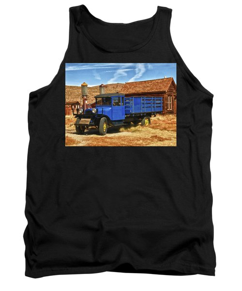 Old Blue 1927 Dodge Truck Bodie State Park Tank Top by James Hammond