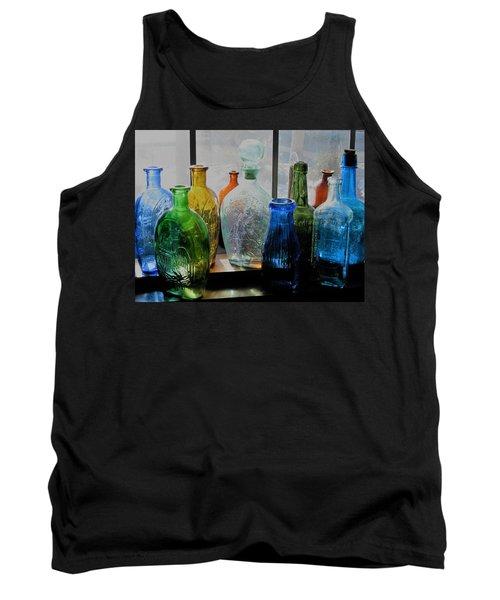 Old Bottles Tank Top by John Scates
