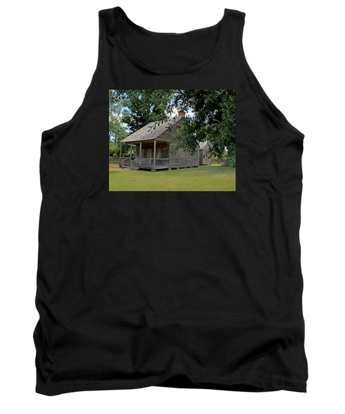 Tank Top featuring the photograph Old Cajun Home by Judy Vincent