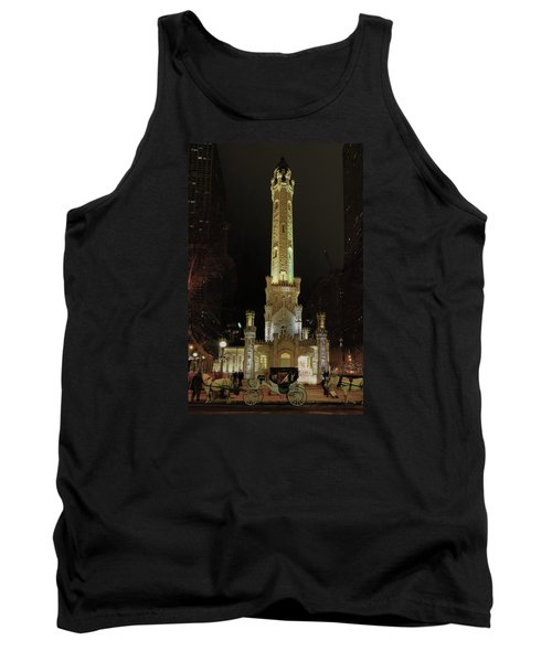 Old Chicago Water Tower Tank Top by Alan Toepfer