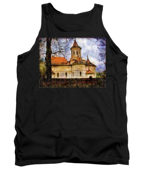 Old Church With Red Roof Tank Top