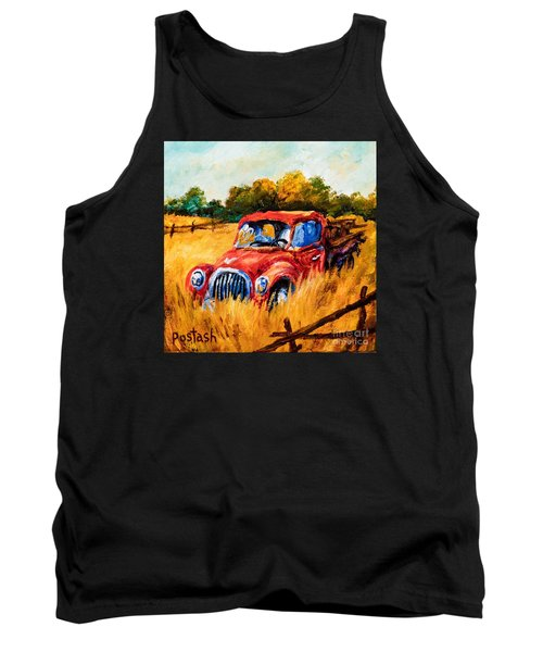 Tank Top featuring the painting Old Friend by Igor Postash