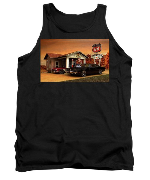 Old Gas Station American Muscle Tank Top