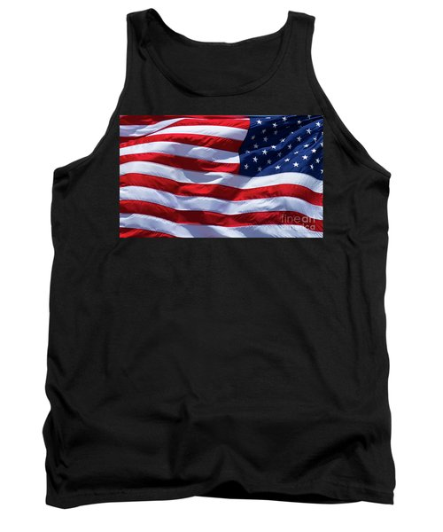 Tank Top featuring the photograph Stitches Old Glory American Flag Art by Reid Callaway