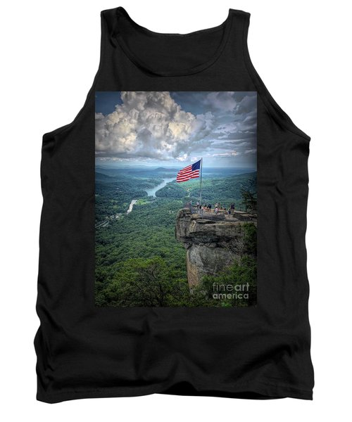 Old Glory On The Rock Tank Top