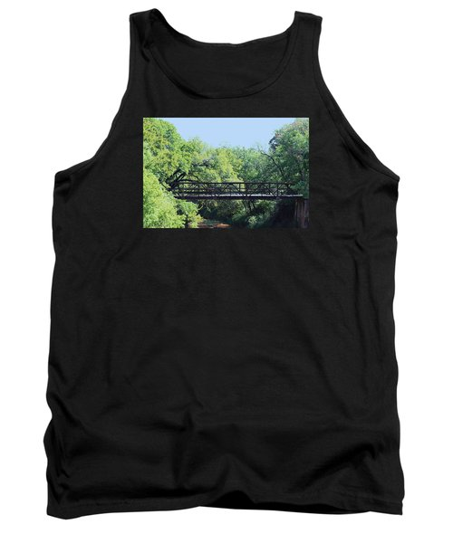 Tank Top featuring the photograph Old Iron Bridge Over Caddo Creek by Sheila Brown