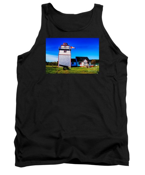 Old Lighthouse Tank Top by Rick Bragan