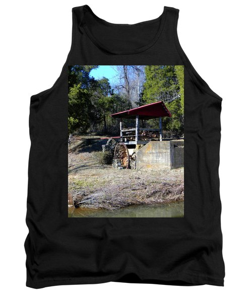 Tank Top featuring the photograph Old Mill Of Guilford Pumphouse by Sandi OReilly