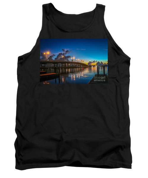 Old Palm City Bridge Tank Top by Tom Claud