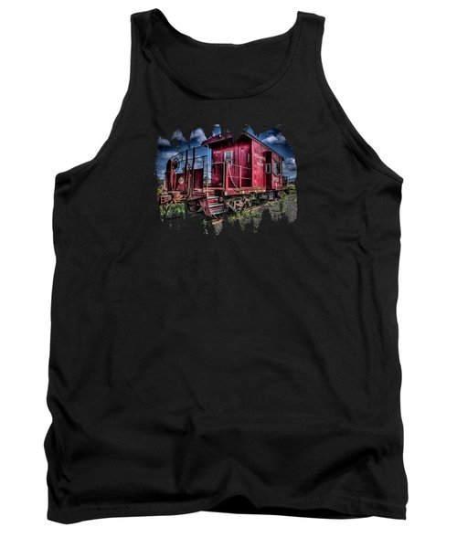 Tank Top featuring the photograph Old Red Caboose by Thom Zehrfeld