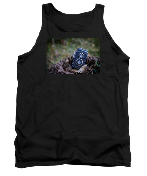 Tank Top featuring the photograph Old Rollei by Keith Hawley