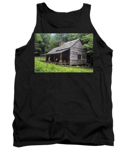 Old Settlers Cabin Smoky Mountains National Park Tank Top