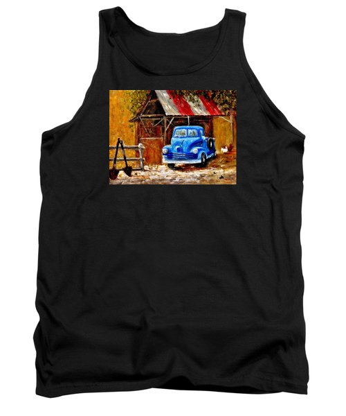 Tank Top featuring the painting Old Timers..  by Cristina Mihailescu