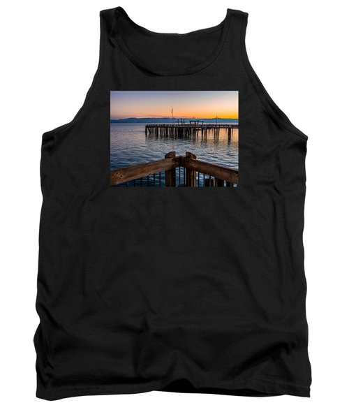 Old Town Pier During Sunrise On Commencement Bay Tank Top