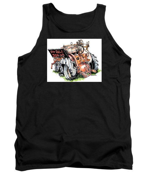 Old Tractor Tank Top by Terry Banderas