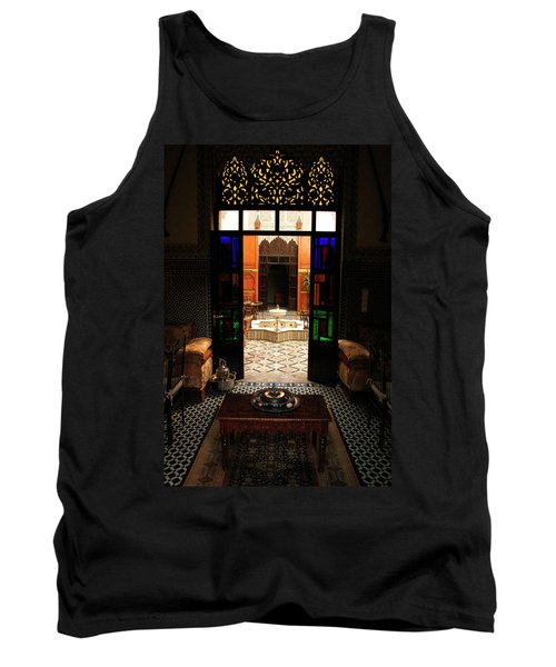 Old Traditional Riad In Fez Tank Top by Ralph A  Ledergerber-Photography