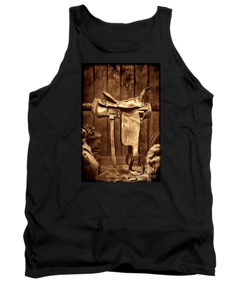 Old Western Saddle Tank Top by American West Legend By Olivier Le Queinec