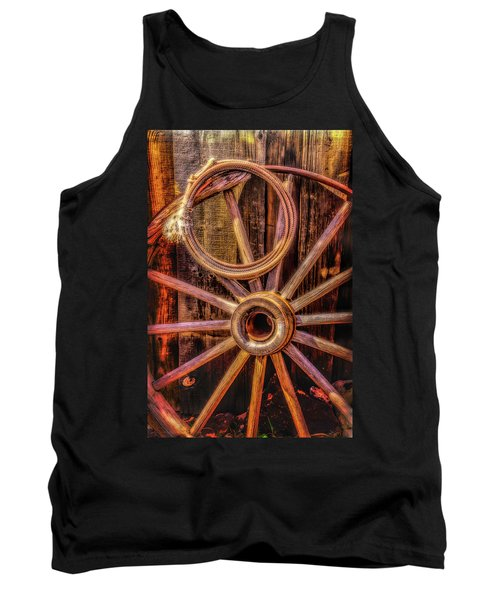 Old Wheel And Rope Tank Top
