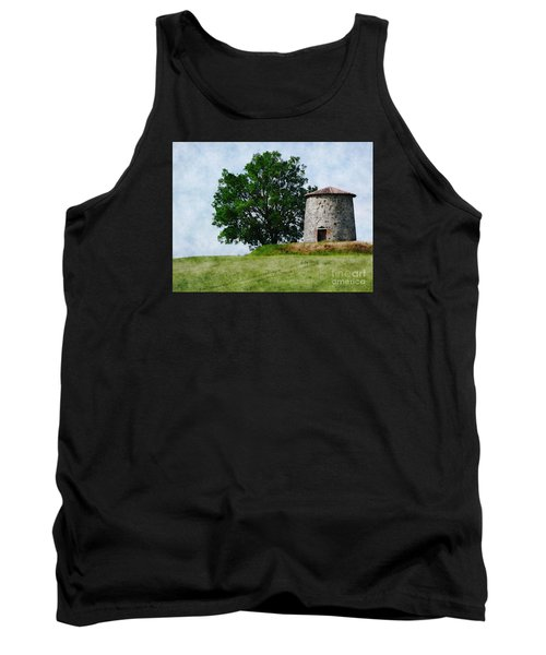 Tank Top featuring the photograph Old Windmill by Jean Bernard Roussilhe