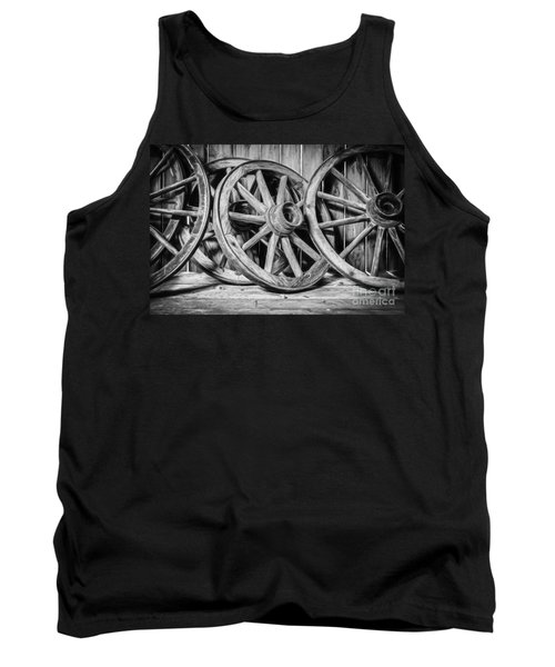 Old Wooden Wheels Tank Top
