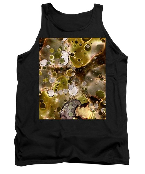 Tank Top featuring the painting Olive Metal Abstract by Patricia Lintner