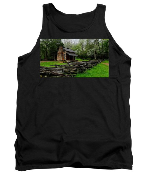 Oliver's Cabin Among The Dogwood Of The Great Smoky Mountains National Park Tank Top