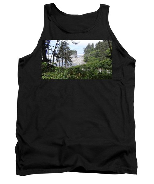 Tank Top featuring the photograph Olympic National Park Beach by Tony Mathews