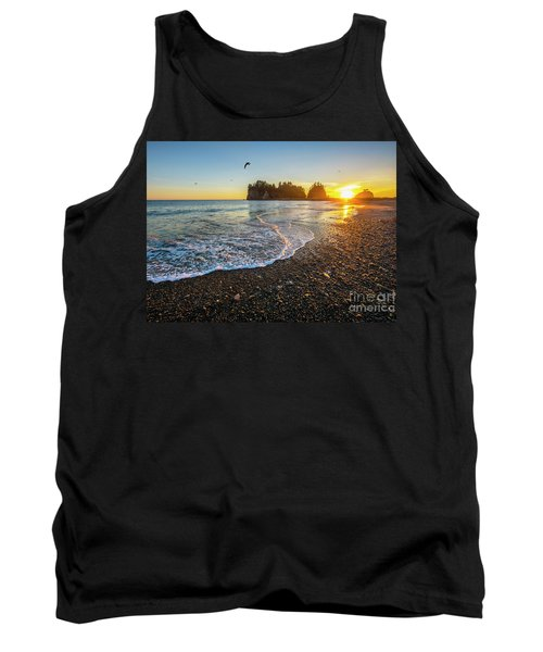 Tank Top featuring the photograph Olympic Peninsula Sunset by Martin Konopacki
