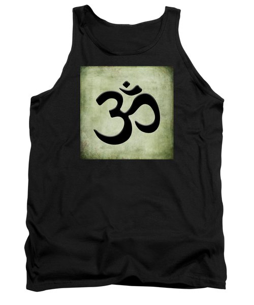 Tank Top featuring the painting Om Green by Kandy Hurley
