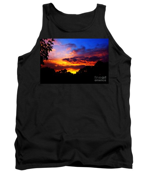 Ominous Sunset Tank Top by Clayton Bruster