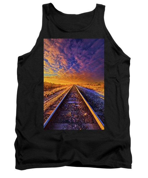 Tank Top featuring the photograph On A Train Bound For Nowhere by Phil Koch