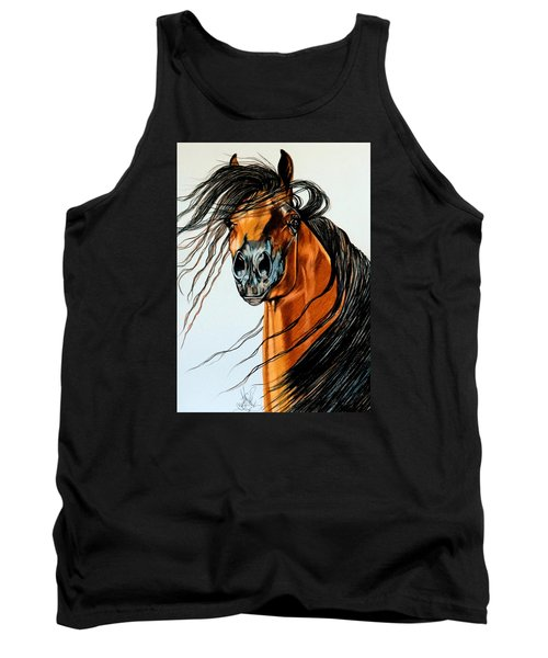 On A Windy Day-dream Horse Series #2003 Tank Top by Cheryl Poland