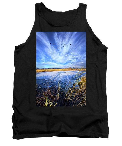Tank Top featuring the photograph On Frozen Pond by Phil Koch