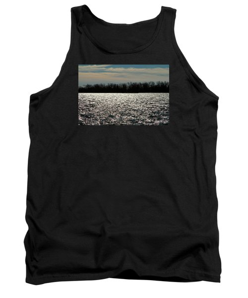 Tank Top featuring the photograph Ontario Winter Reflections by Valentino Visentini