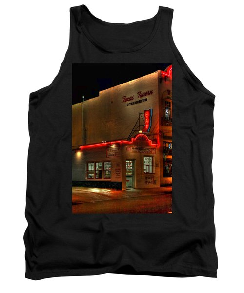 Open All Nite-texas Tavern Tank Top