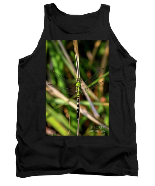 Tank Top featuring the photograph Openminded Green Dragonfly Art by Reid Callaway
