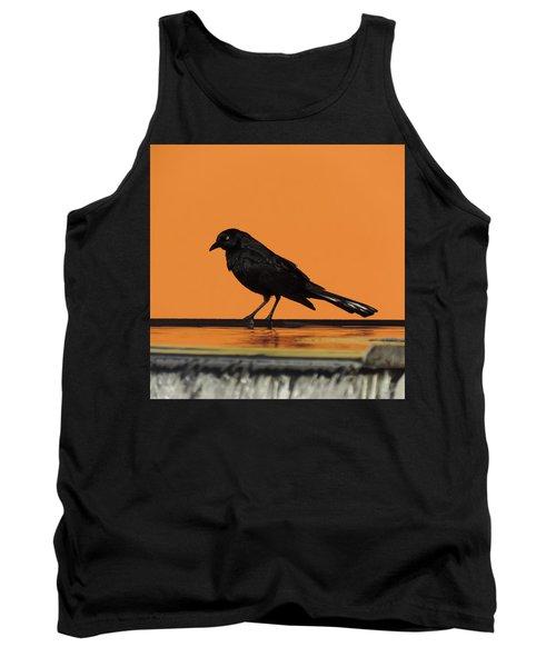 Orange And Black Bird Tank Top
