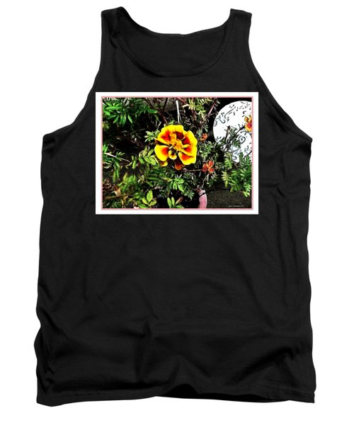 Tank Top featuring the photograph Orange And Yellow Flower by Joan  Minchak