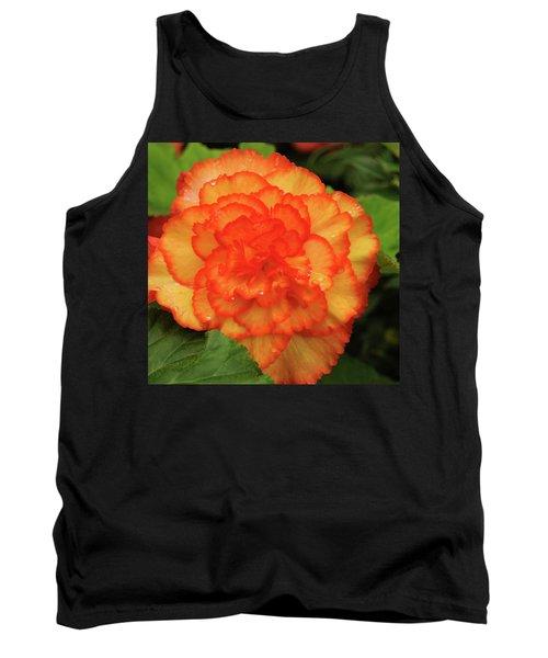 Orange Begonia Tank Top by Haleh Mahbod