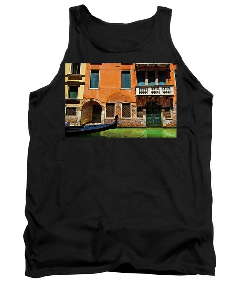 Tank Top featuring the photograph Orange Building And Gondola by Harry Spitz