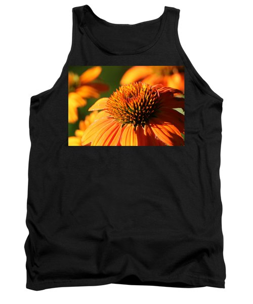 Orange Coneflower At First Light Tank Top