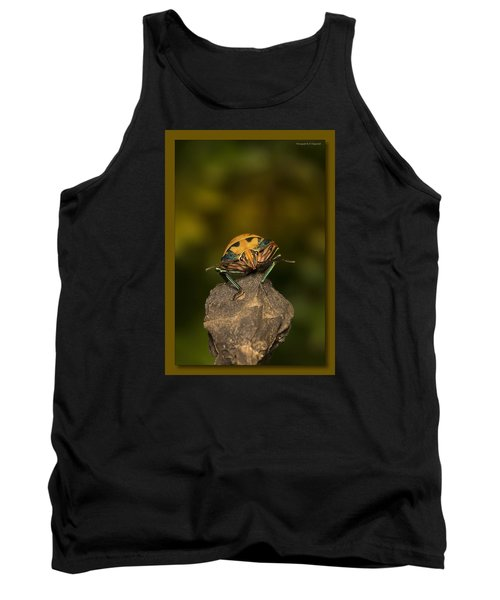 Tank Top featuring the photograph Orange Stink Bug 002 by Kevin Chippindall