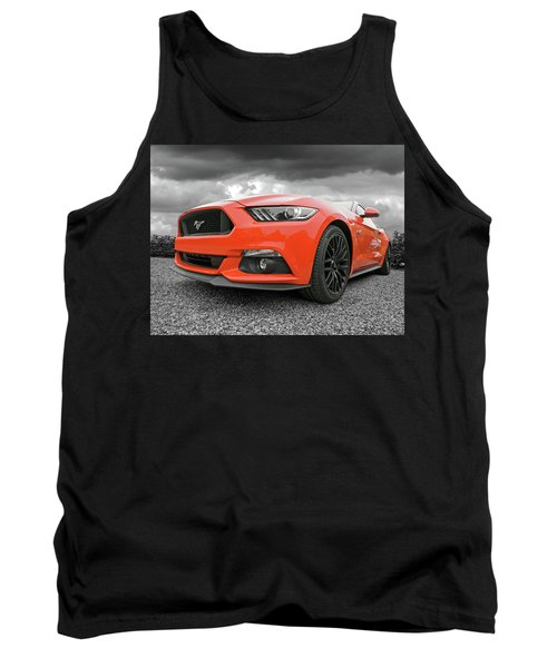 Tank Top featuring the photograph Orange Storm - Mustang Gt by Gill Billington