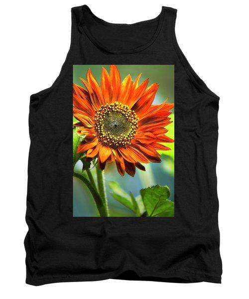 Orange Sunflower Tank Top