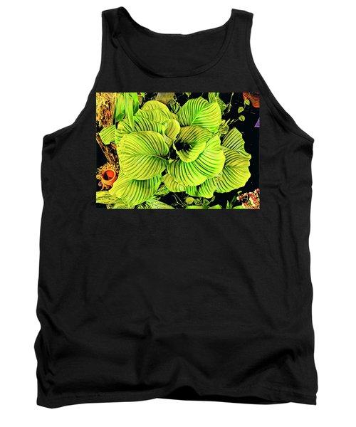 Orchid Green Fade Aloha  Tank Top